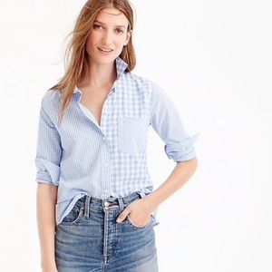 J. Crew Gingham cocktail shirt small 2 boy